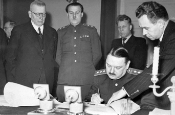 December 17, 1944. Helsinki. Signing of the Reparations Agreement
