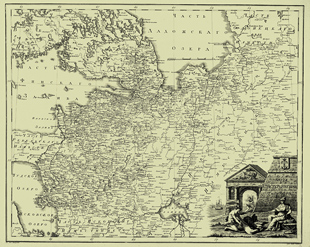 1792. Map of Saint Petersburg Governorate