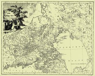 1792. Map of Vyborg Viceroyalty