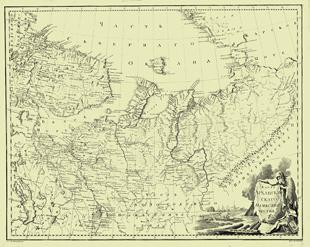 1792. Map of Arkhangelsk Viceroyalty