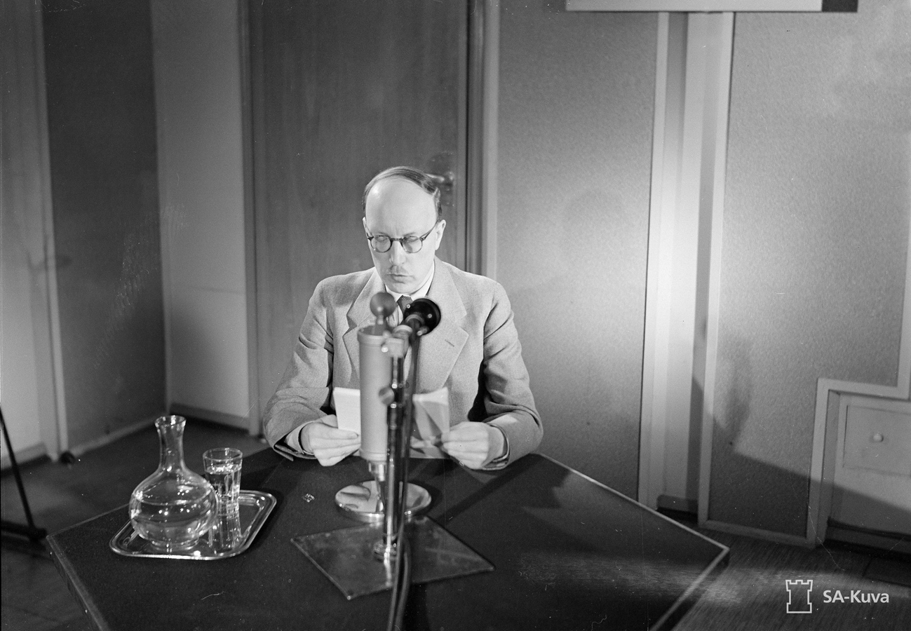 June 26, 1941. President of Finland Risto Ryti speech on radio