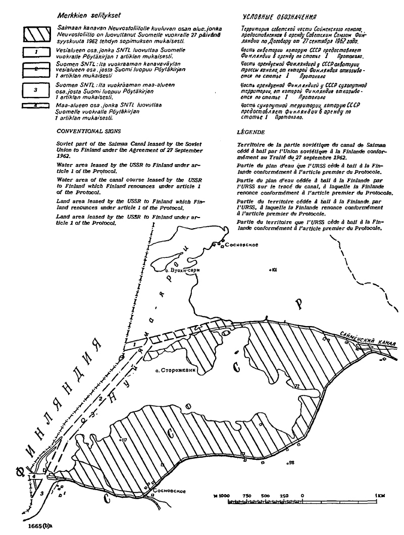 August 11, 1964. Map attached to the protocol on 11 August 1964