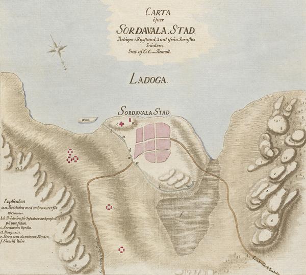 Конец 1780-х годов. Сортавала. Карта конца 1780-x годов