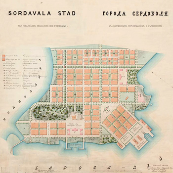 1859. Sortavala. Map, 1859