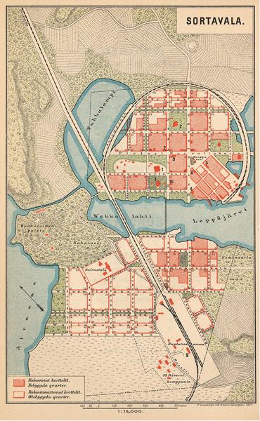 1897 год. Сортавала. Карта 1897 года