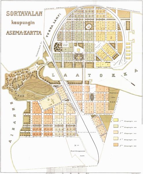 1920. Sortavala. Map, 1920
