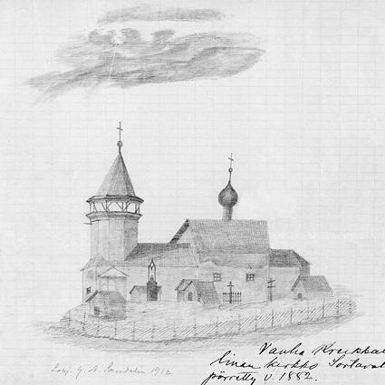 1912. Miikkulan kirkko Rantueessa