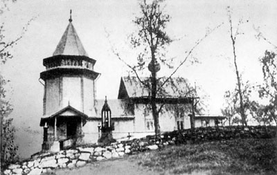 1890's. St.Nicolas church in Rantue