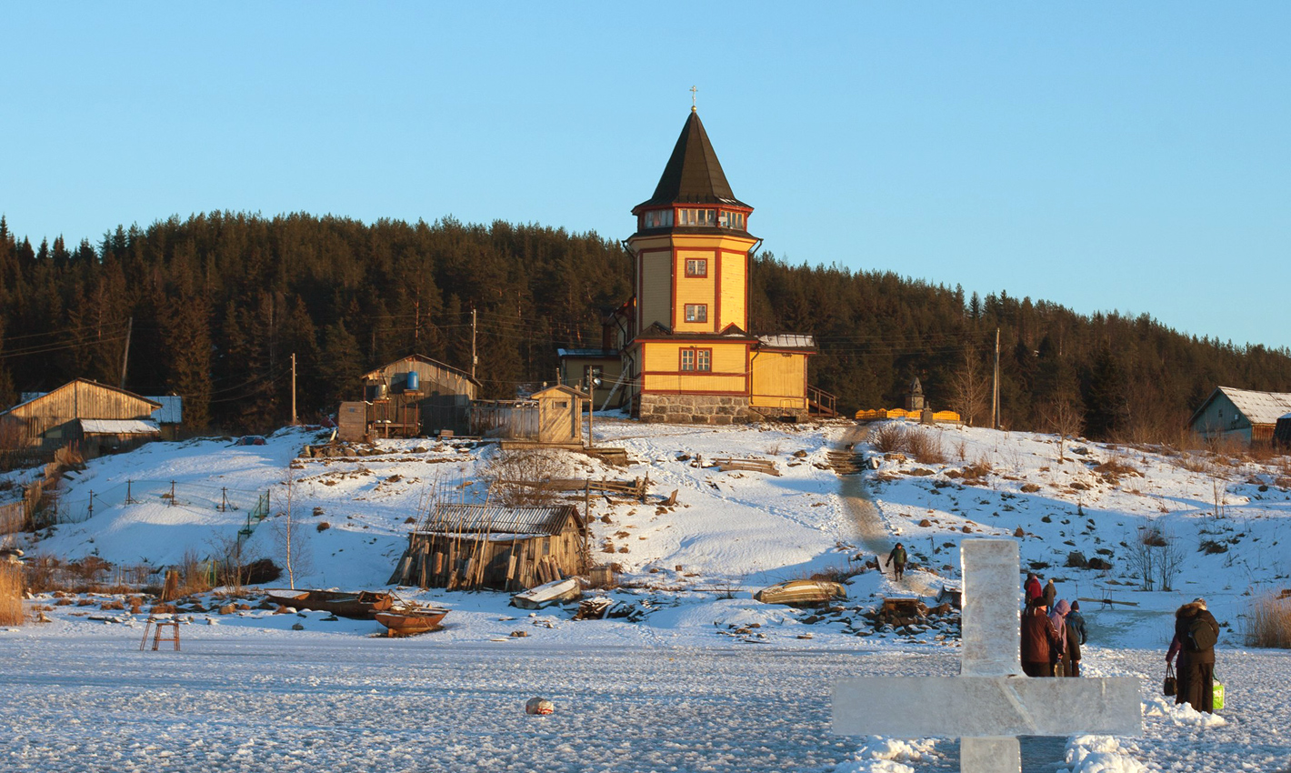January 19, 2015. St.Nicolas church in Rantue