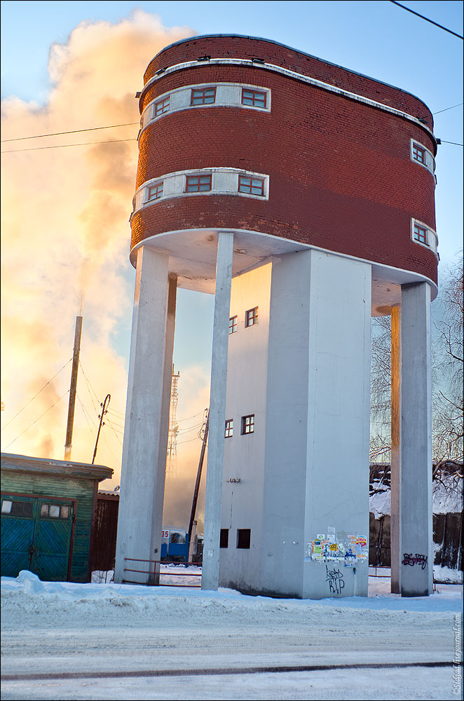 February 9, 2015. Sortavala. Water tower