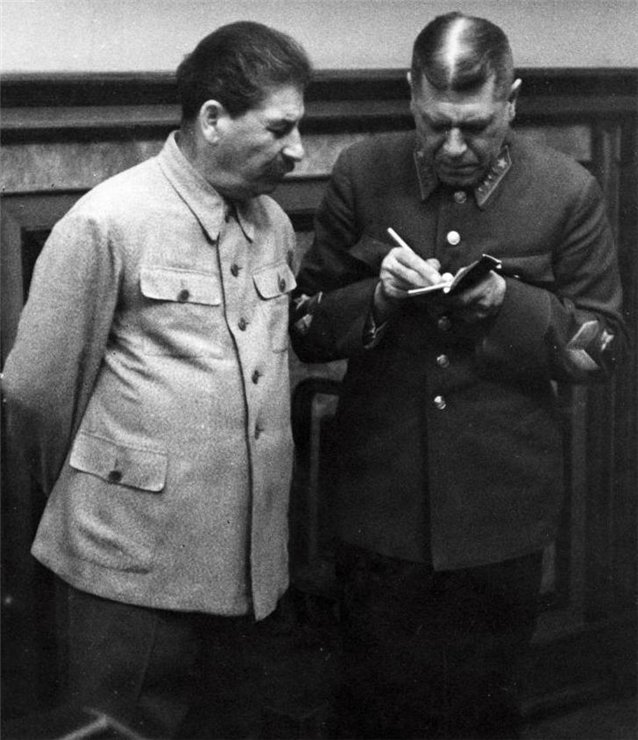 1939. Iosif Stalin and Boris Shaposhnikov