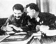 December 1935. Iosif Stalin and Kliment Voroshilov