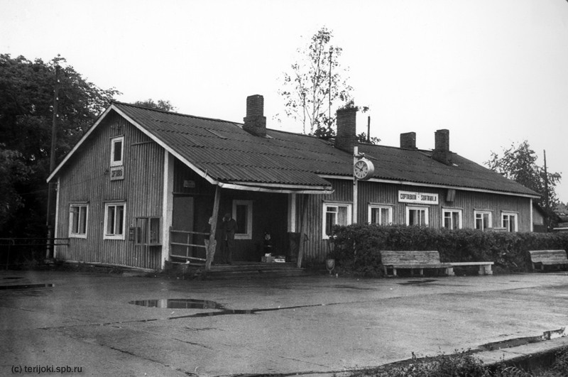 August 1991. Sortavala. Old Railway Station Building