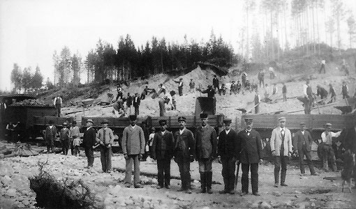 Early 1890's. Building of Karelian railway