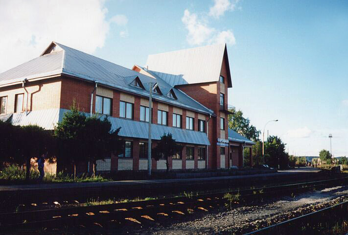 August 14, 2001. Sortavala. New Railway Station Building