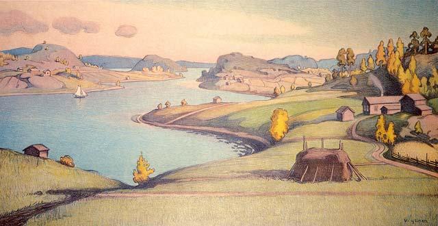 1909. Gulf in the Eastern part of Riekkalansaari Island, near Sortavala