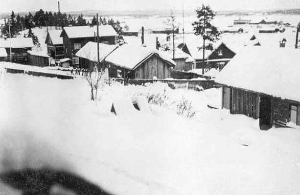 Early 1940's. Sortavala. Street