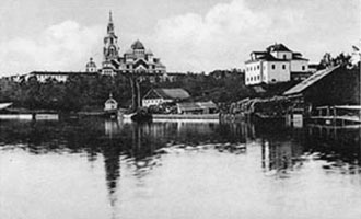 1900's. Sortavala. Lutheran church and hotel Seurahuone