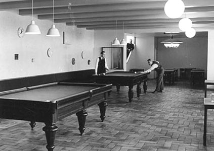 1938. Sortavala. Billiards in the restaurant of East-Karelian co-operative company