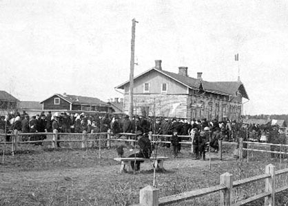 May 1, 1907. Sortavala. Near the worker's club