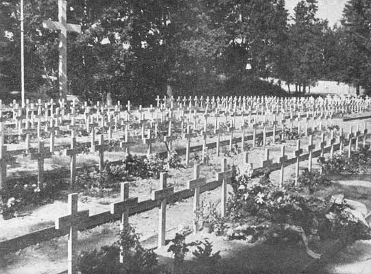 Early 1940's. Sortavala. Common Graves of 1939-1944 in the church's garden