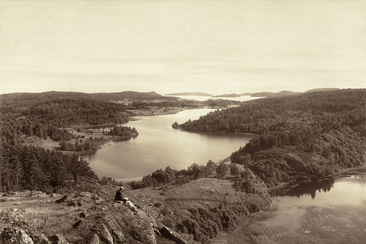 1895. Riekkalansaari. A view from Riutanvuori