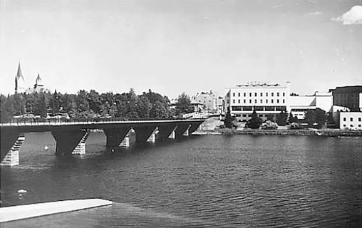1930's. Sortavala. The Karelian bridge