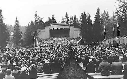 1920's. Sortavala. Vakkosalmi. The singing festival