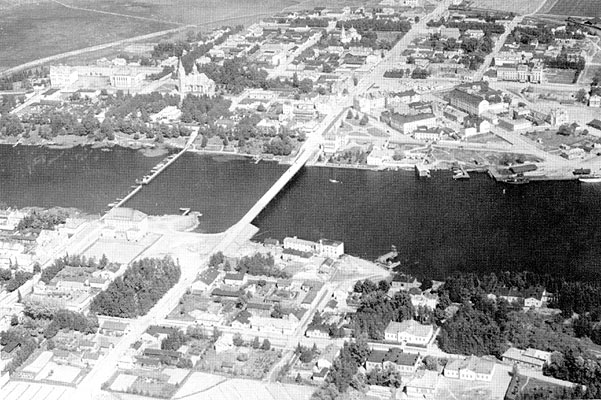 1930's. Sortavala. Aerial photography
