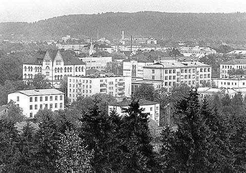 1990. Sortavala. Centre of the town