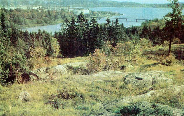 1970's. Sortavala. A view from Kuhavuori
