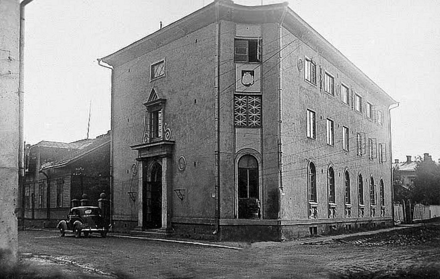 Early 1940's. Sortavala. Suojeluskunta building