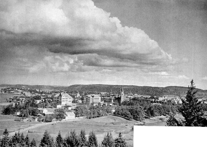 1930's. Sortavala. A view from observation tower in the Kuhavuori
