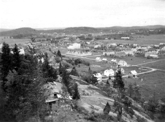 1941. Sortavala. A view from observation tower in the Kuhavuori