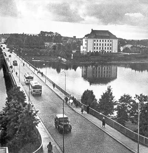 1960's. Sortavala. The Karelian bridge
