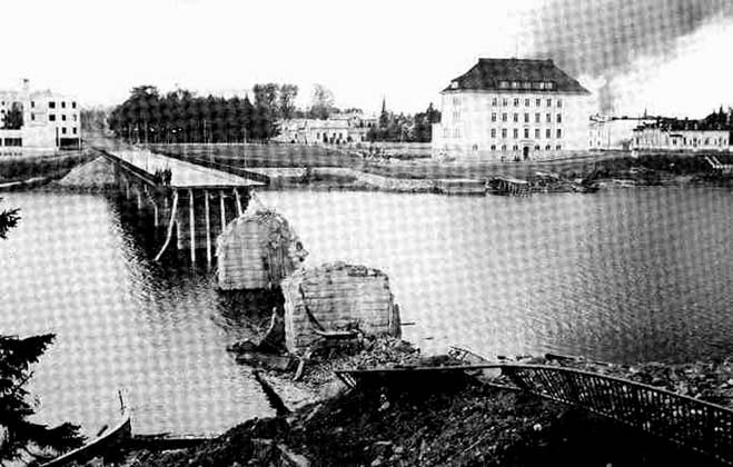 1941. Sortavala. The Karelian bridge
