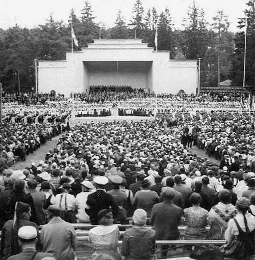 1935. Sortavala. The singing festival