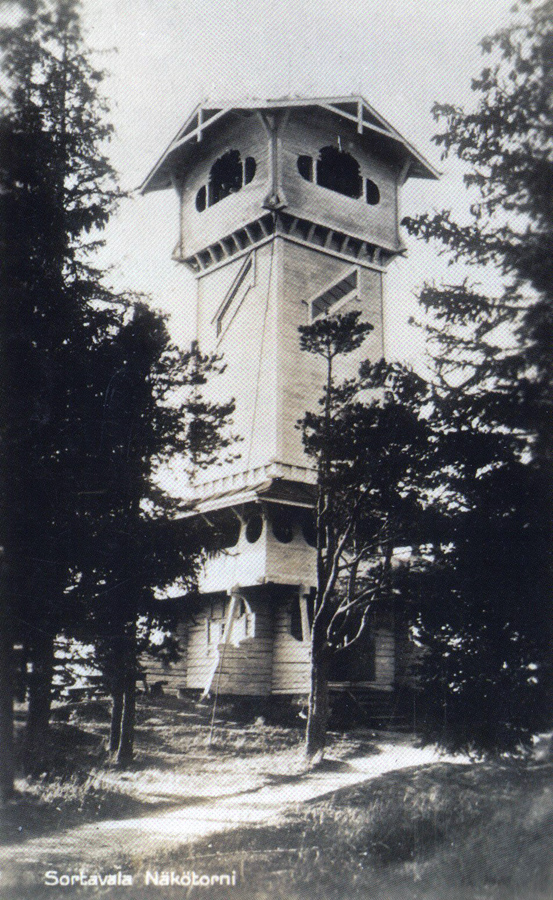 1930's. Sortavala. Observation tower in the Kuhavuori (was build in the 1896)