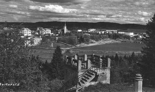 1939. Sortavala. A view from observation tower in the Kuhavuori
