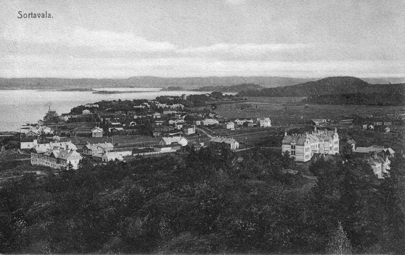 1910's. Sortavala. A view from Kuhavuori
