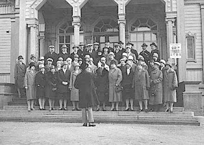 1929. Mixed Chorus of Sortavala in front of the town hall