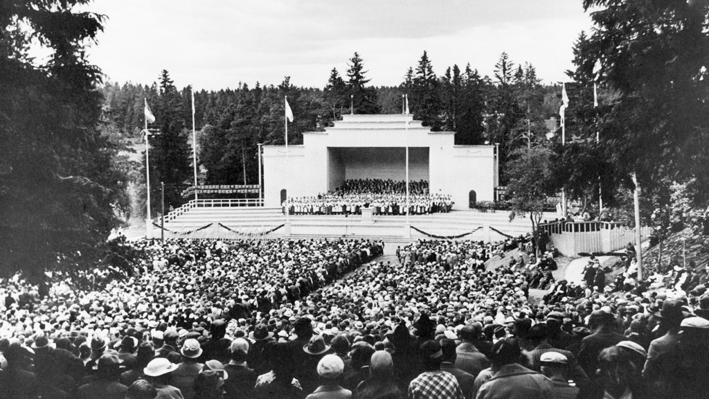 1935. Sortavala. Vakkosalmi. The singing festival