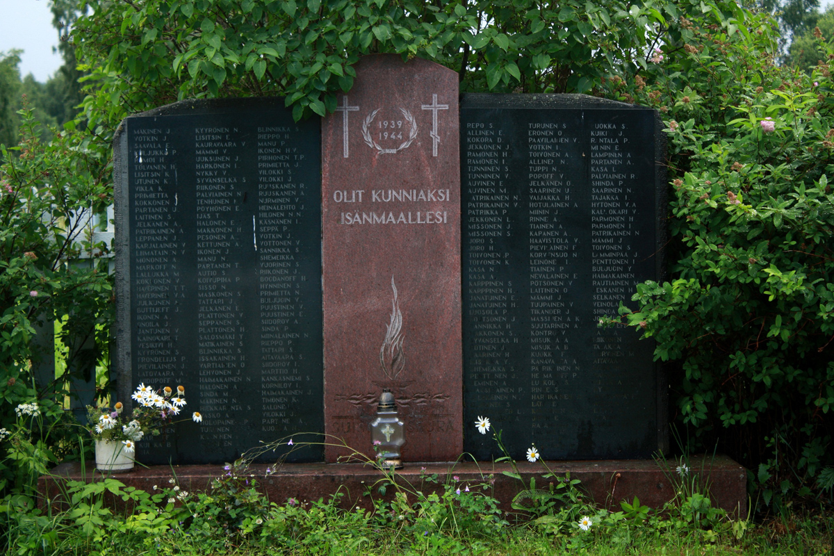 July 2011. The memorial to Finnish warriors of 1939-1944