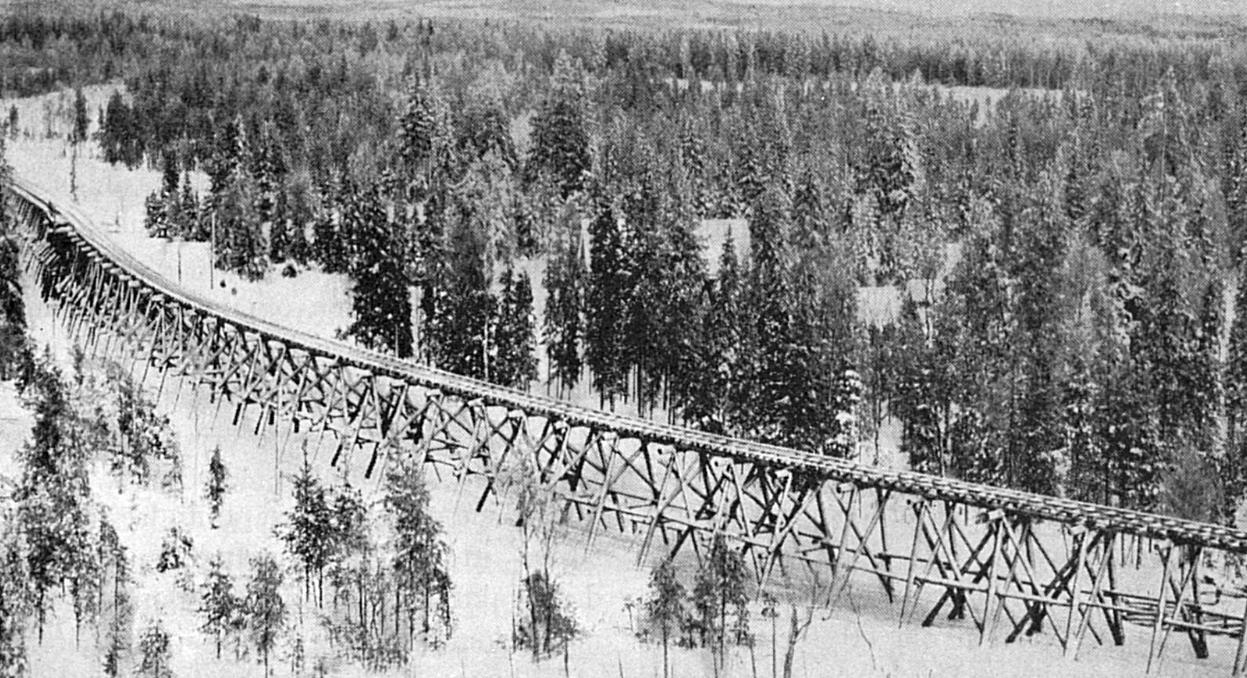1920-е годы. Узкоколейная лесовозная железная дорога Сюскюярви-Ваахерйоки