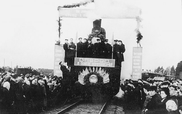 September 30, 1956. Grand opening of railroad Suojärvi-Porosozero