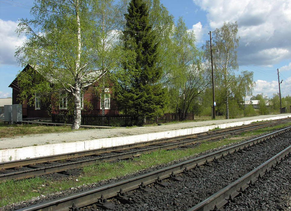 May 23, 2006. Piitsjoki. Railway station building