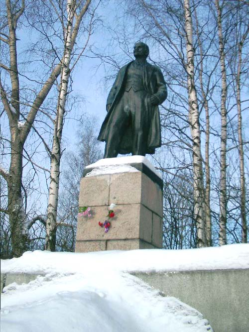 February 26, 2004. Monument to Vladimir Lenin