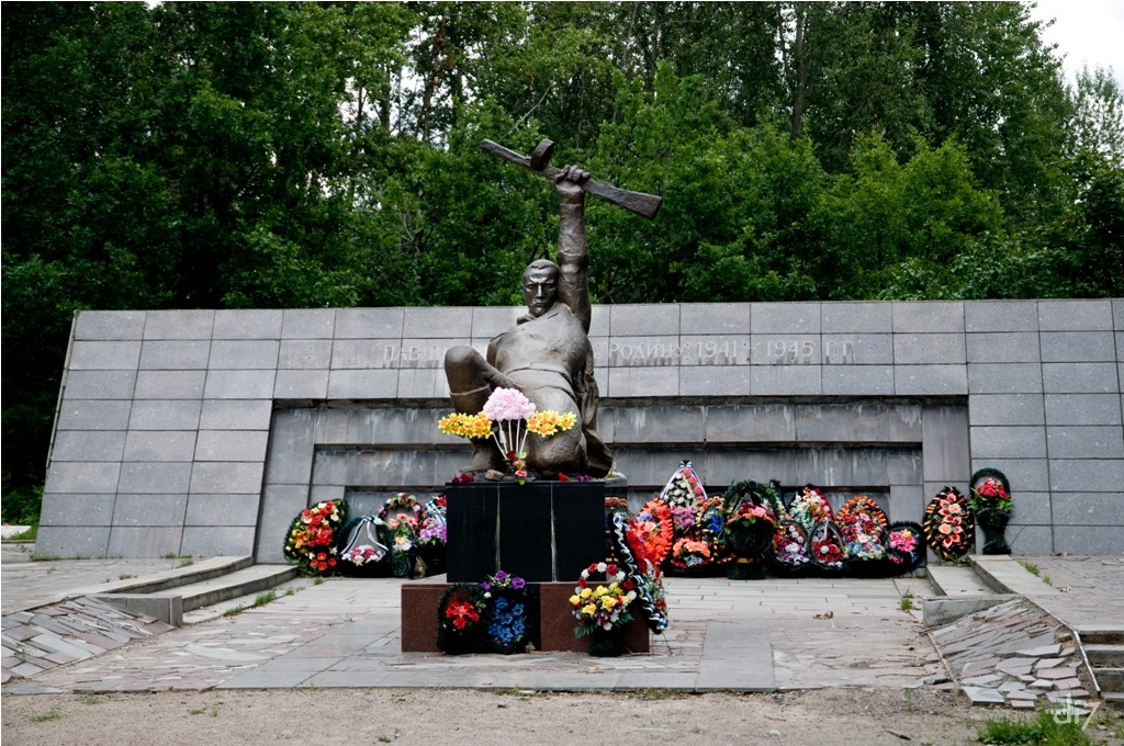 August 13, 2010. Memorial to the Soviet soldiers