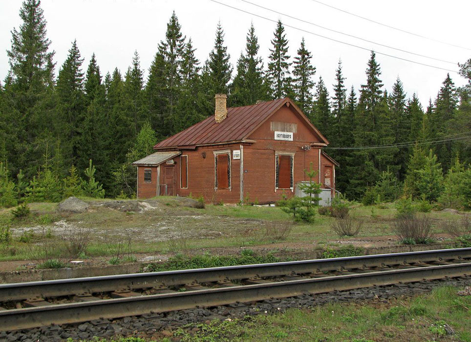 May 23, 2006. Hautavaara. Railway station