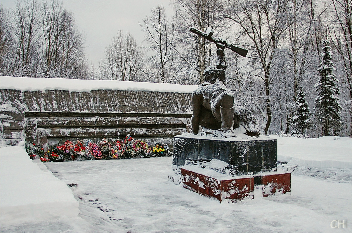 January 7, 2012. Memorial to the Soviet soldiers